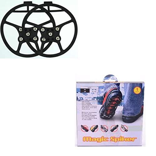 Les Colis Noirs LCN - Paire de Crampon Magic Spiker pour Chaussure Taille 43-48 - Anti Glisse Neige Glace - 953