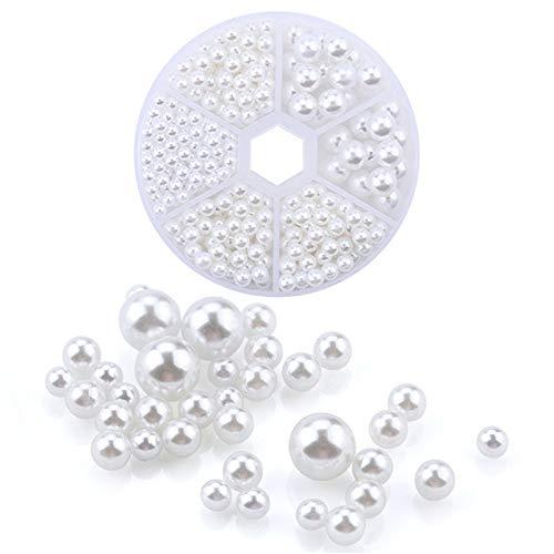 Unknow Godong Machine Manuelle de Perle clouée, Accessoires de Fixation de Boutons de Rivet de Perle pour Les Jupes, Perles Bricolage,Blanc