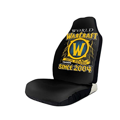 Zwj World of Warcraft Car Seat Covers Automotive Interior Accessories Front Seat Cover Case Nonslip for Men Women