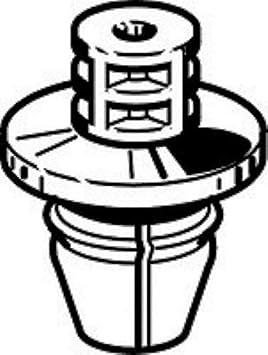 3 Pezzi Minuteria e Ricambi Auto Mollette Fermi per Fissaggio Paraurti Fermapannelli in Resina Colore Bianco