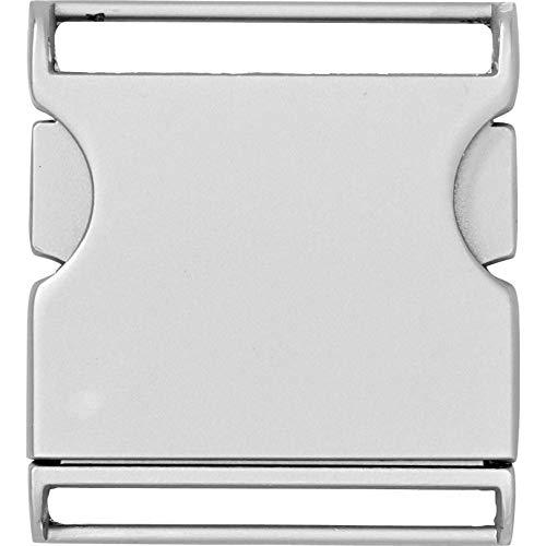 Prym Gürtelschnalle, Metall, matt Silber, 40mm
