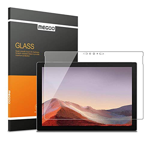MEGOO Surface Pro 7 Screenschutzfolie [Gehärtetes Glas] Ultra klar, Anti-Scratch, Hochsensibel, Fre&liches Berühren, für Microsoft Surface Pro 7-12.3 Zoll geeignet