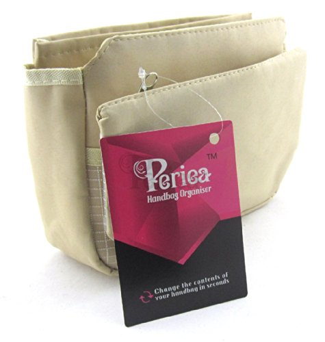 Periea Handtaschenordner, Einsatz, Einlage 9 Taschen 20x16x7cm - Tegan hellbraun
