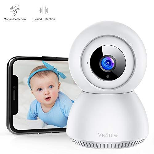Victure 1080P Cámara IP WiFi Cámara de Vigilancia con Detección de Sonido y Seguimiento de Movimiento