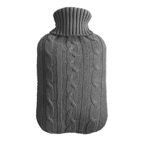TREESTAR cubierta de la botella de agua caliente tejida inyección de agua a prueba de explosiones agua caliente bolsa agua cálida mano tesoro adulto No incluye bolsa pero solo la funda de lana