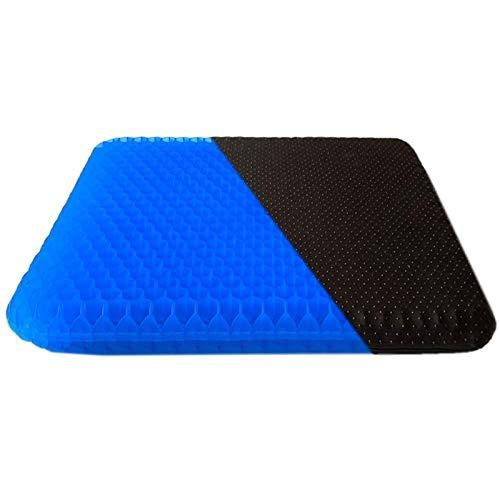 Suptempo凝胶座垫,增强的办公椅坐垫,最新改进的双凝胶蜂窝设计厚座垫,用于减压后尾骨疼痛,办公椅子汽车旅行轮椅