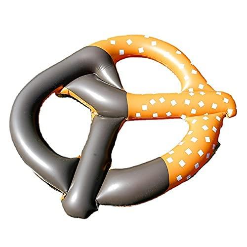 WULOVEMI Anillo de natación de Agua de Juguete Inflable Agua Adulta Flotante Fila Flotante Cama Inflable 140 cm marrón (Color : Brown, Size : 140cm)
