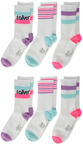 s.Oliver Socks Mädchen S20619000 Socken, Türkis (Blue Tint 6006), 27-30 (Herstellergröße: 27/30) (6er Pack)