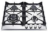 K&H 4 Burner 24' Built-in LPG Gas Stainless Steel Cast Iron Cooktop 4-24-SSW-LPG
