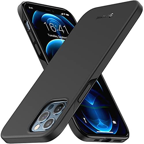 Syncwire Hülle für iPhone 12/12 Pro - Schutzhülle Silikon Ultra Dünn, Anti Fingerabdruck, rutschfest, Fallschutz Kratzfest Handyhülle Kompatibel mit iPhone 12/12 Pro - Schwarz 6,1-Zoll