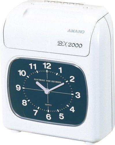 アマノ タイムカード タイムレコーダー ホワイト BX2000