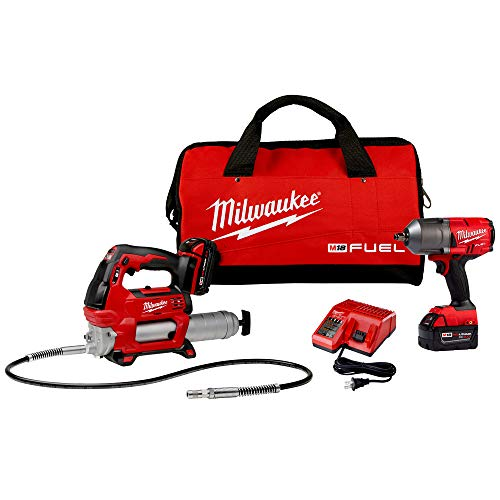 Milwaukee Electric Tools M18 Fuel 1/2' High-Torque Impact w/Free Grease Gu, Chrome (2767-22GG)