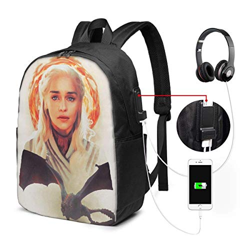 AOOEDM USB Backpack 17 in Dany Laptop Backpack- with USB Charging Port/Stylish Casual Waterproof Backpacks Fits Most 17/15.6 Inch Laptops and Tablets/for Work Travel School