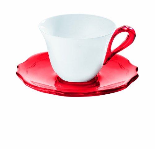 Guzzini Fratelli Belle Epoque, 6 Espressotassen mit Untertassen, SAN|SMMA|Porcelain