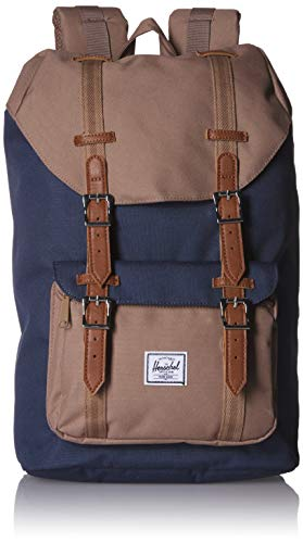 Herschel Little America 10020-03018-OS Backpack with Laptop Sleeve - Navy/Pine Bark (Blue)