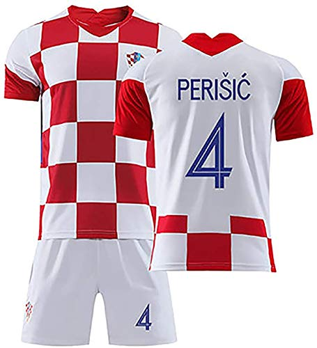 Kroatien WM-Trikot, Unterstützer Fanball, Herren Heimtrikot Replik, Retro WM Fußball Trikot Shirt-4#-S