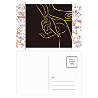 仏教の宗教は仏教の手のパターン 公式ポストカードセットサンクスカード郵送側20個