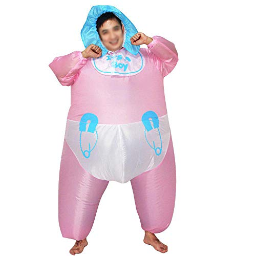 HAIYANG Lustiges Baby-Styling Aufblasbares Kostüm Blow Up Kostüm für Halloween Cosplay Party Weihnachten Aufblasbare Kleidung für Erwachsene Suitable for Height 150-190 cm