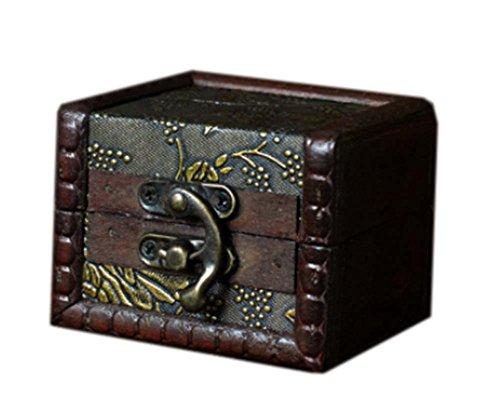 style chinois carré caisson à bijoux en bois de cas cosmétique