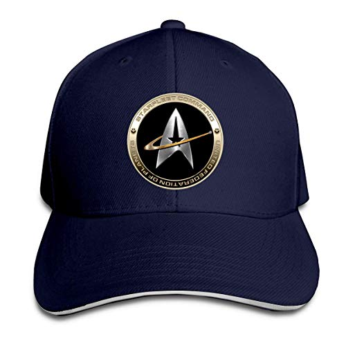 Star Trek Logo Baseball Cap Unisex Cotton Cap Sports Outdoors Cap Navy