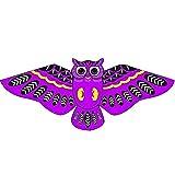 jiashemeng Cometa para Niños Adultos, Dibujos Animados Búho Pájaro Línea única Cometa Voladora Diversión Al Aire Libre Deportes Niños Juguete Regalo Púrpura