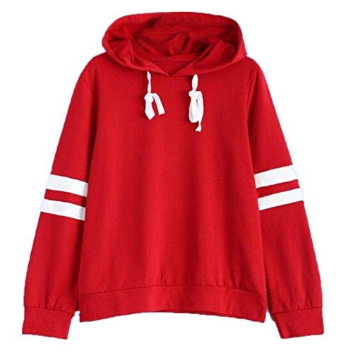 Sinfu Women Blouse Vintage Long Sleeve Hoodie Sweatshirt Jumper Hooded Pullover Tops (M US size 6)