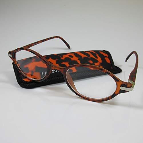 LINDAUER Elegante Lesebrille +2,0 havanna Fertigbrille für SIE & IHN Flexbügel