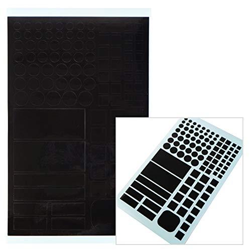 【盗撮防止シール】 レンズに糊が残らない再剥離 遮光、減光用 電子機器 電気製品 118x195mm 【1シート】 黒