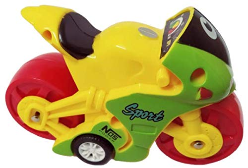 Adore(AKT) Dazzling Motorcycle Friction Series Toy Bike for Kids (Yellow)