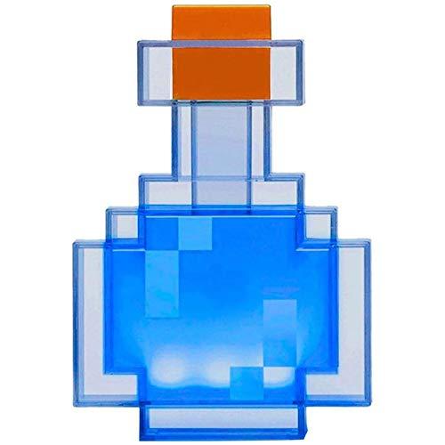 Mine Craft - Botella de poción que cambia de color con luz LED, se ilumina y cambia entre 8 y 7 pulgadas de luz de noche