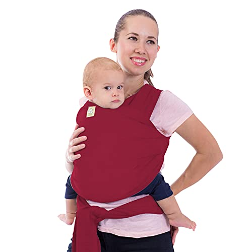 Baby Wrap Carrier - All in 1 Stretchy Baby Sling - Baby Carrier Sling - Baby Carrier Wraps - Baby Carriers for Newborn, Infant - Baby Holder Straps - Baby Slings - Baby Sling Wrap (Royal Magenta)