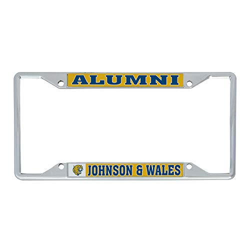 Desert Cactus Johnson & Wales University JWU Wildcats NCAA Metal License Plate Frame for Front or Back of Car Officially Licensed (Alumni)