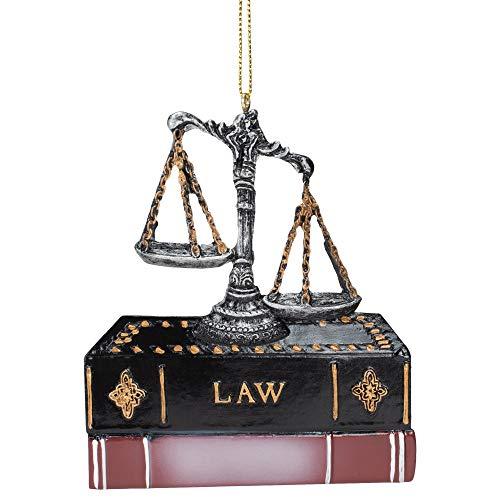 Kurt Adler Scales of Justice Bronze Toned 4 inch Resin Decorative Hanging Ornament