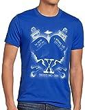 style3 X-Agente Camiseta para Hombre T-Shirt FBI Alien UFO, Talla:5XL, Color:Azul