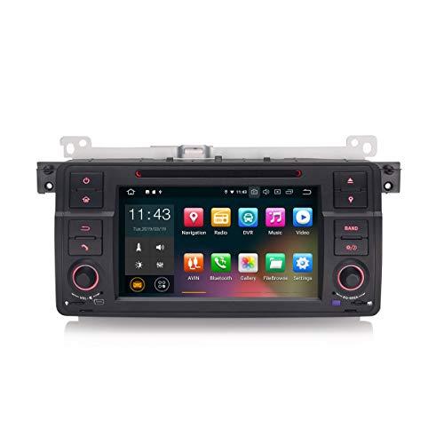 Erisin 7 Zoll Android 9.0 Autoradio für BMW 3 Series E46 3er 318 320 M3 Rover75 MG ZT DVD Player mit GPS Navi Unterstützt Bluetooth WiFi 4G DAB+ Lenkradfernbedienung RDS Mirror Link OBD