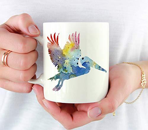 Betsy34Sophia Pelikan beker Pelikan liefhebbers geschenk Kleurrijke Pelikan Acquarel Kunst-beker Pelikan koffiemok Unieke Pelikan geschenken