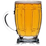 KADAX Bierkrug, Bierglas mit bequemem Griff und dickem Boden, Bierseidel aus hochwertigem Glas, robuster Krug für Bier, Biergefäß, geeignet für Gastronomie, spülmaschinenfest (Benno, 520ml, 1)