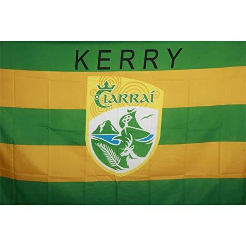 Cresta oficial en Irlanda GAA Bandera país KERRY 152cm x91cm acción muy limitada