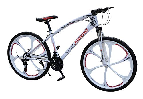 Adults Mens Mountain Bike Bicycle 21 Speed 26 inch Wheel MTB Suspension...