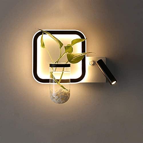 Samantha Lámpara de Pared de Moda Lámpara de Pared Moderna Minimalista Creativo Planta Verde Lámpara de Pared Ángulo Ajustable LED Lámpara de Pared Lámpara de Pared Nordic Dormitorio Iluminación