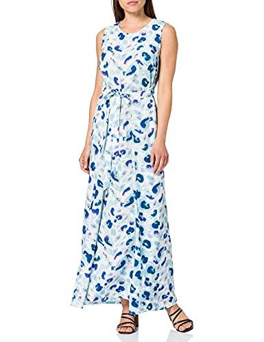 Taifun Kleid Gewebe Vestido, Blue Curacao Pattern, 36 para Mujer