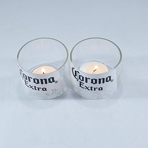 Ensemble de bougies chauffe-plat avec bouteille de bière Corona à cycle élevé – Excellent article pour la décoration intérieure ou extérieure (2)