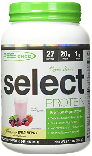 PEScience Select Protein Vegan Series 27 Servings Sports Supplement, 1 kg, Wild Berry PES1027/100/103