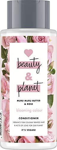 Love Beauty And Planet Blooming Colour Conditioner, für gefärbtes und glanzloses Haar Murumuru Butter und Rose silikonfrei, 1 Stück (400 ml)