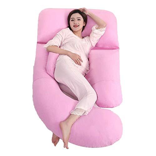 ZOUSHUAIDEDIAN Almohada de Embarazo Forma de la Almohada de Maternidad Almohada de Soporte de Cuerpo Completo para Mujeres Embarazadas con Cubierta Lavable, Soporte para Cuello/Espalda/bly/piern