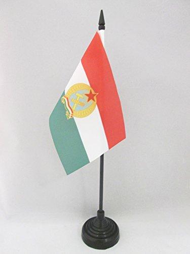 AZ FLAG Bandera de Mesa de la REPÚBLICA Popular DE HUNGRÍA 1949-1956 15x10cm - BANDERINA de DESPACHO HÚNGARA Antigua 10 x 15 cm