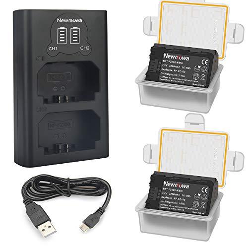 Newmowa NP-FZ100 Batería de Repuesto (Paquete de 2) y Smart LCD Cargador...