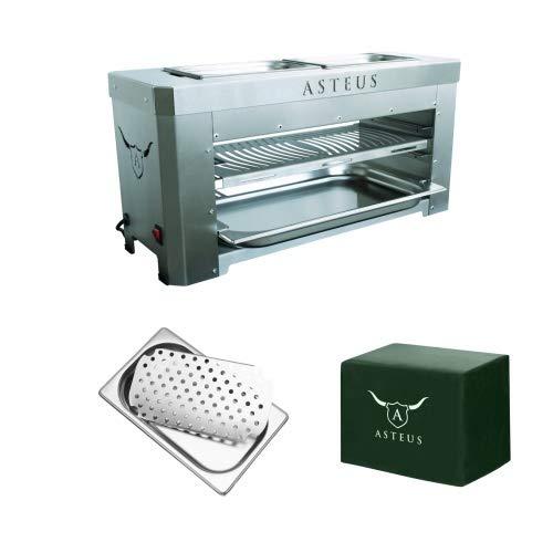 Asteus Family V2 Aktions-Set Bundle Elektro Infrarot Grill bis 800° C Edelstahl