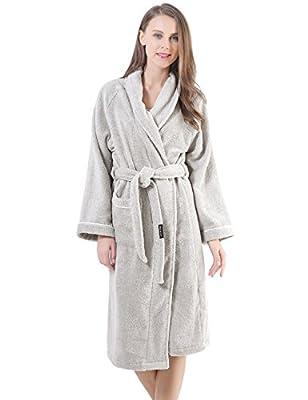 Sanli Terry Cotton Cloth Plush Bathrobe, Soft, Thick, Long Size, Bath Shower Spa Robes for Women