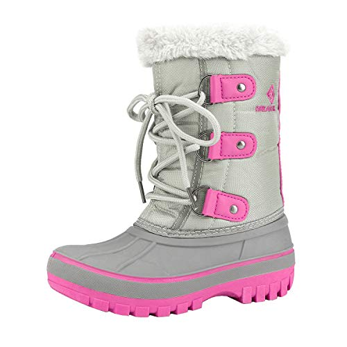 DREAM PAIRS Toddler Forester Grey Fuchsia Ankle Winter Snow Boots Size 9 M US Toddler